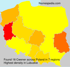 Surname Cwener in Poland