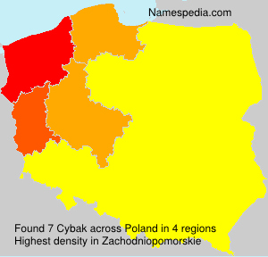 Surname Cybak in Poland
