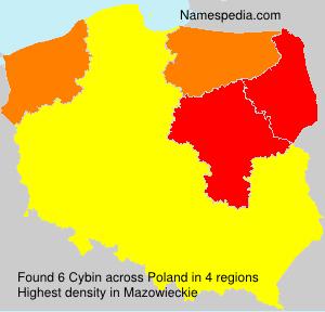 Surname Cybin in Poland