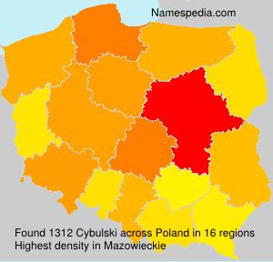 Familiennamen Cybulski - Poland