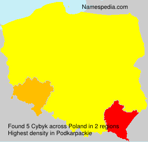 Surname Cybyk in Poland