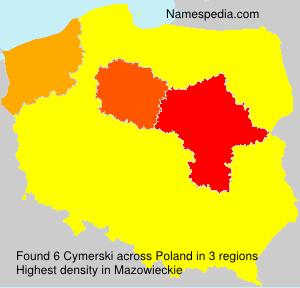Surname Cymerski in Poland