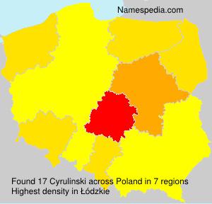 Surname Cyrulinski in Poland