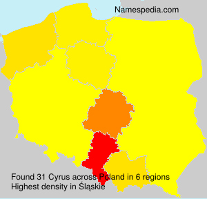 Familiennamen Cyrus - Poland