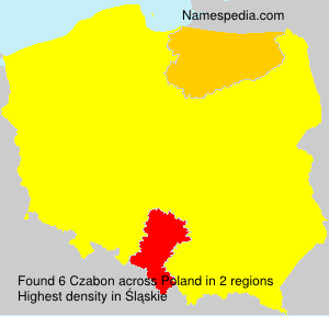 Surname Czabon in Poland