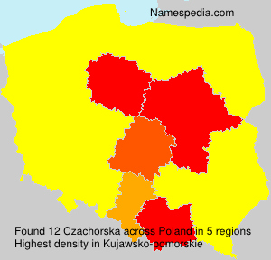 Surname Czachorska in Poland