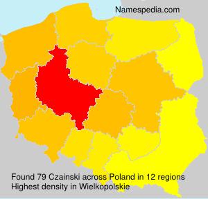 Surname Czainski in Poland