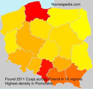 Surname Czaja in Poland