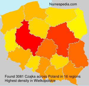 Surname Czajka in Poland