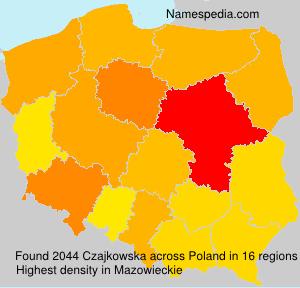 Familiennamen Czajkowska - Poland
