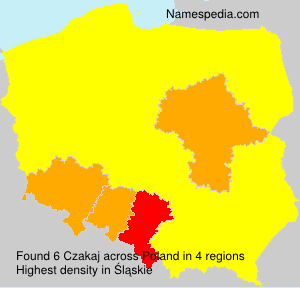 Surname Czakaj in Poland
