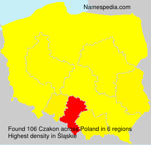 Surname Czakon in Poland