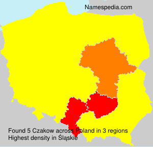 Surname Czakow in Poland