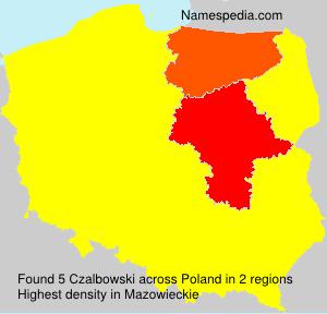 Familiennamen Czalbowski - Poland