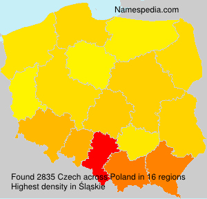 Surname Czech in Poland