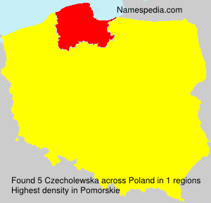 Surname Czecholewska in Poland