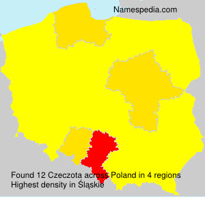 Surname Czeczota in Poland