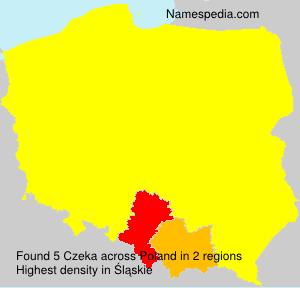 Surname Czeka in Poland