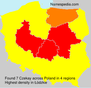 Surname Czekay in Poland
