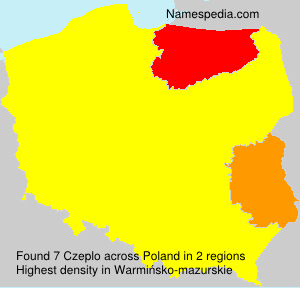 Surname Czeplo in Poland