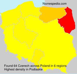 Surname Czerech in Poland
