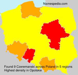 Surname Czeremanski in Poland