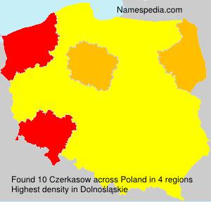 Surname Czerkasow in Poland