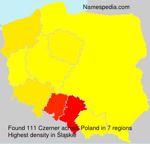 Familiennamen Czerner - Poland