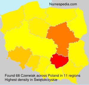 Surname Czerwiak in Poland