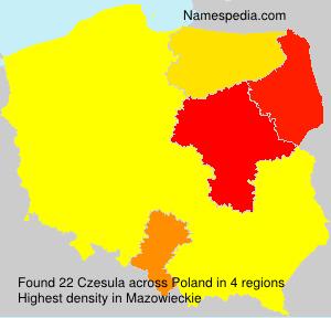 Familiennamen Czesula - Poland