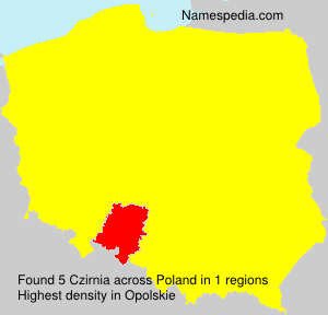 Surname Czirnia in Poland