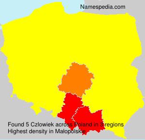 Familiennamen Czlowiek - Poland
