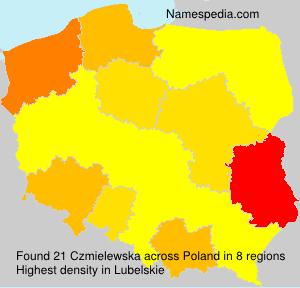 Familiennamen Czmielewska - Poland