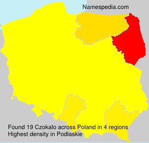 Surname Czokalo in Poland