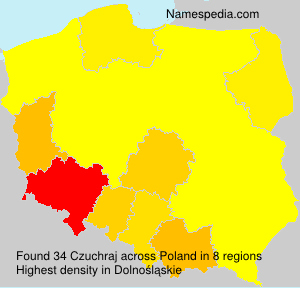 Surname Czuchraj in Poland