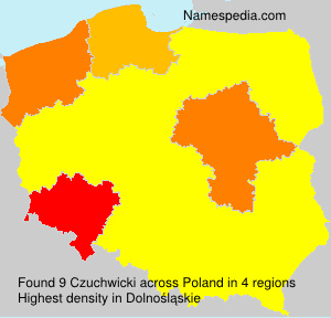 Surname Czuchwicki in Poland
