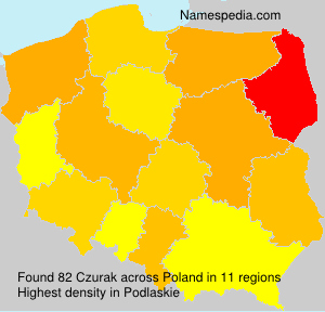 Surname Czurak in Poland