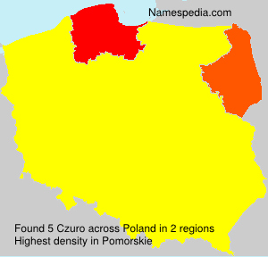 Surname Czuro in Poland