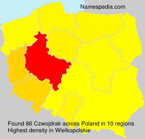 Surname Czwojdrak in Poland
