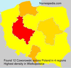 Surname Czworowski in Poland