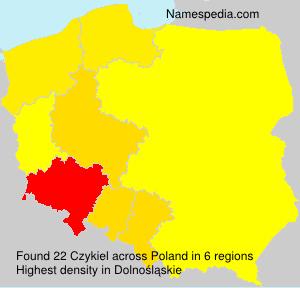 Surname Czykiel in Poland