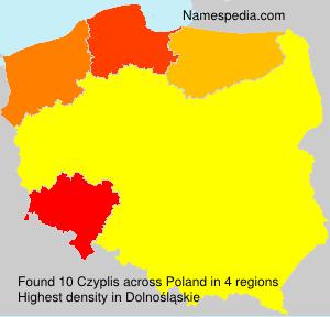 Familiennamen Czyplis - Poland