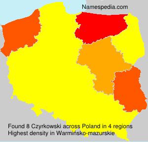 Familiennamen Czyrkowski - Poland