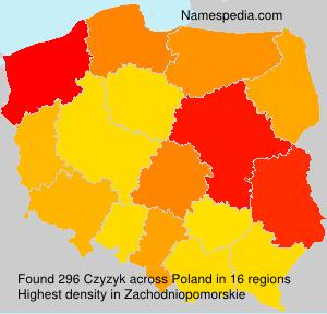 Surname Czyzyk in Poland