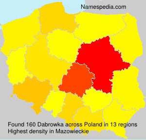 Surname Dabrowka in Poland