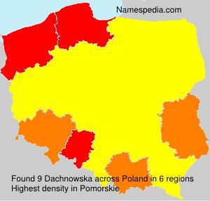 Surname Dachnowska in Poland