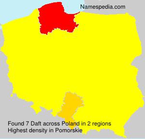 Surname Daft in Poland