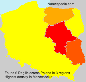 Surname Dagilis in Poland