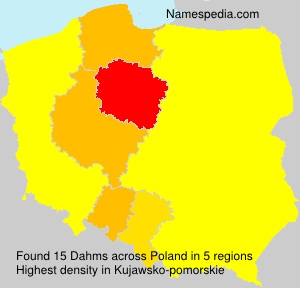 Surname Dahms in Poland