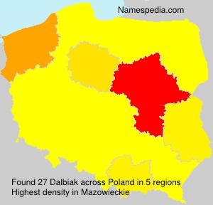 Familiennamen Dalbiak - Poland